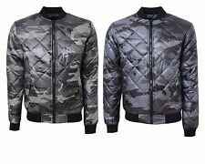 Mens Smith & Jones Camouflage Padded Quilted Harrington Jacket Army Coat S-XL