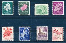 NORFOLK ISLAND 1960-62 DEFINITIVES SG24/31 BLOCKS OF 4 MNH