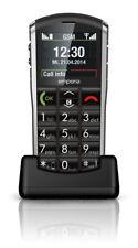 emporiaPURE Schwarz Bluetooth einfache Bedienung Hörgerätekompatibel NEU OVP
