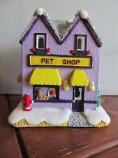 Holiday Time Christmas Village Hand Painted Pet Shop 10276 Cali Creations