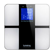 Bathroom LCD Digital Body Weight Scale Fat Muscle Bone Calorie BMI 400lbs/180kg
