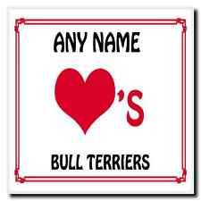 AMORE Cuore BULL Terriers Sottobicchieri Personalizzati