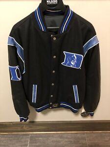 Duke Blue Devil Varsity Reversable Leather Jacket JH Design