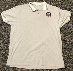 Vintage Buffalo Bills Shirt Polo Jim Kelly Hall of Fame 2002 Facsimile Auto XL