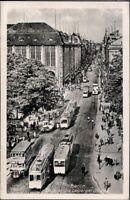 Ansichtskarte Postkarte sw Berlin Blick in die Leipziger Str. gelaufen 1947 DDR
