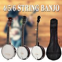 Vintage Wood Professional 4/5/6 String Banjo Banjolele Ukulele Concert Drumhead