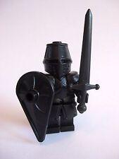 Lego Custom THE BLACK KNIGHT Templar with Custom Armor and Weapons -Castle LOTR