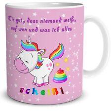 Kaffeetasse Einhorn Spruch Scheiss Drauf Tasse Geschenk Freundin Unicorn lustig