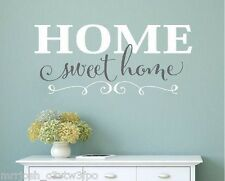 Home Sweet Home Vinyl wall decals home decor wall words stickers family love