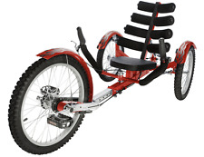 "New Mobo Shift 20"" 3 WHEEL Trike Tricycle RECUMBENT Bike with reverse Red"