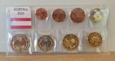 Série 8 pièces Euros Autriche 2021 UNC - 1 centimes à 2 Euros