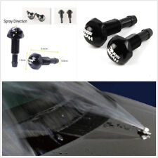 2x Universal Aluminum Windshield Wiper Water Jet Spray Washer Nozzle For Vehicle