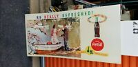 VINTAGE Cardboard drink coca cola be really refreshed country store sign 27 x 56