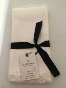 Hearth & Hand Magnolia Sour Cream White Napkins Cotton Linen Blend New Set of 4