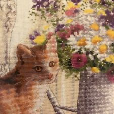 Gold Collection Counted Cross Stitch Kit Unopened Kitten In Window Dimensions