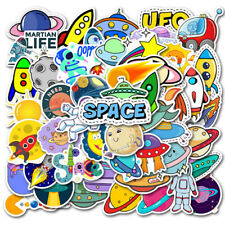 50Pcs Cartoon Space Planet Stickers Laptop Luggage Guitar Skateboard Dec HxSjap