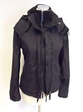 SUPERDRY BLACK THE WIND CHEATER HOODED JACKET SIZE S