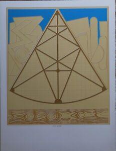 Lucio Del Pezzo serigrafia Arches Ostermalm Suite III  1972 65x50 numerata 90/90