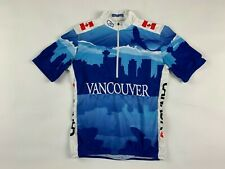 SUGOI Womens Cycling Top XS Team Canada Vancouver Shirt Short Sleeve Zip