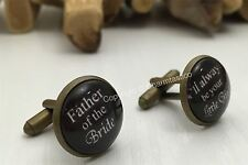 Father Of The Bride CUFFLINKS -I'll Always be Your Little Girl- DAD Wedding Gift