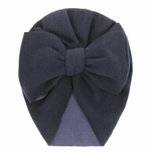 1pc Velvet Fabric Headwraps Baby Thick Beanies Infant Bow Knot Hats Newborn Hair