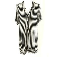 We The Free People Shirt Dress Shift Striped Collar Black White Size S