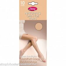 Silky Naturals Open Toe Toeless Tights 10 Denier Tights -  for peep toe shoes