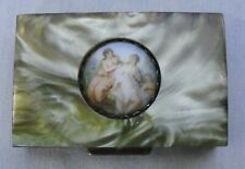 Vintage Pill Bar Box Container Mother Of Pearl Abalone Victorian Trinket