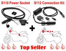 GIVI S110 Power Socket Bordstromsystem + S112 Kabelsatz Power Connection Kit