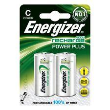 2 x Energizer C Size 2500 mAh Rechargeable Batteries NiMH LR14 HR14 DC1400 ACCU