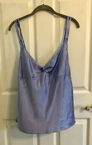 Fredericks Of Hollywood Light Blue Silky Top Size XL