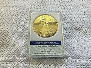 1933 GOLD DOUBLE EAGLE REVERSE PROOF  ARCHIVAL EDITION COIN PROOF VALUE $99.99