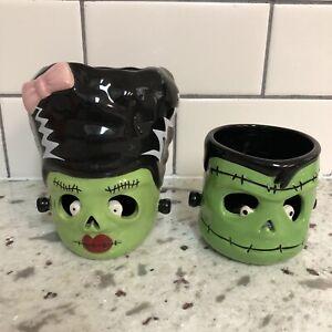 Bath And Body Works Slatkin Bride Of Frankenstein Frankenstein Candle Holders
