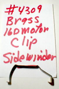 Brass Motor Clip for Sidewinder Chassis TTX150 16D Mabuchi Motor Cox #4309 NOS