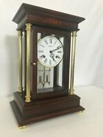 Howard Miller Clock 613-580 Tribute Crystal Regulator Key Wound German Movement