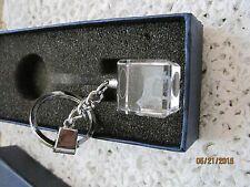 Key Chain Dog Laser Cut Glass or Crystal In Box