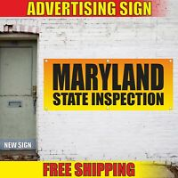 MARYLAND STATE INSPECTION Advertising Banner Vinyl Mesh Decal Sign REPAIR HERE