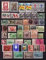 es - PEROU 1868/1960 Joli lot de 45 timbres différents