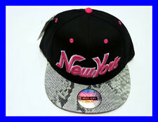 R.C NY New York Snake Skin Flat Peak SNAPBACK Baseball Cap Hat Snap Back