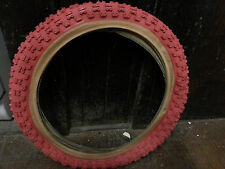 828B 16x2.125 RED gumwall BMX Bicycle tire (1) NOS