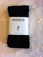 Anti-Bacteria Bamboo Fiber Leggings Thermal Warm Super Soft  Black with Stirrup