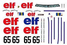 #65 ELF Porsche 934 LM 1977 1/32nd Scale Slot Car WATERSLIDE DECALS