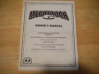 MEGATOUCH 6  MERIT    original video game machine  manual