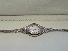 Girard Perregaux Vintage 14kt Gold Wrist Watch Diamonds Art Deco Woman