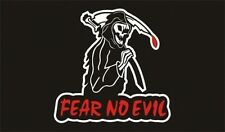 Fear No Evil Flag Grim Reaper Tattooist Biker Outlaw Paranormal Goth/Punk bnip