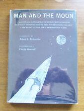 MAN AND THE MOON by Richardson Bonestell space exploration - 1961 1st/1st HCDJ
