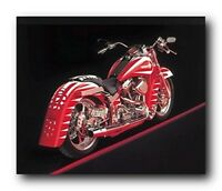 Poster Of Vintage Harley Davidson Motorcycle Wall Decor Art Print Poster (16x20)
