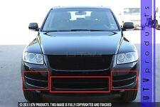 GTG 2003 - 2007 Volkswagen Touareg 6PC Black Overlay Bumper Billet Grille Kit