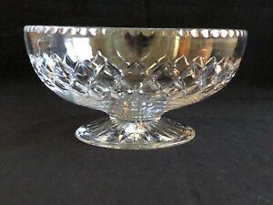 Vintage Stuart Crystal Diamond Cut Footed Master Bowl