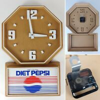 RARE Vintage DIET PEPSI Cola Advertising Electric Wall Hanging Clock Sign 20""